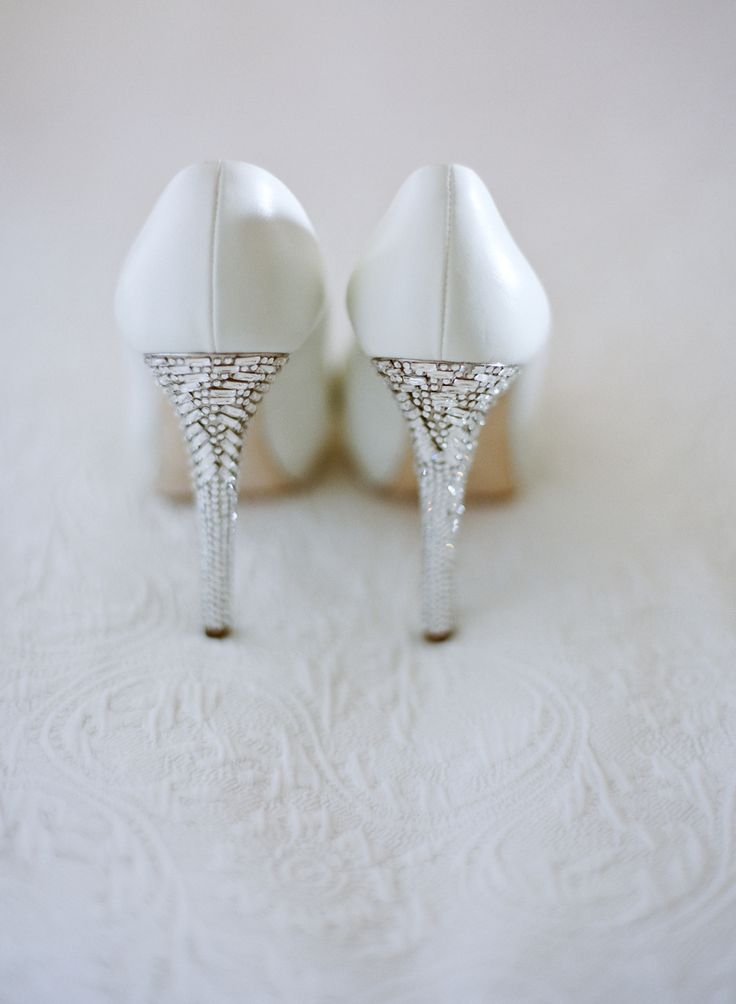 Giuseppi Zanotti shoes, heels embellished with crystals. Amy and Stuart Photography.