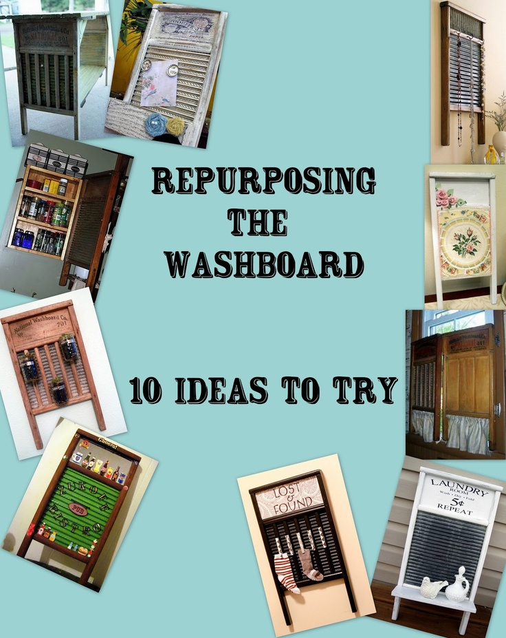 Got an old washboard sitting around the house? Here are some fun ways to turn that washboard into a beautiful piece for your home!