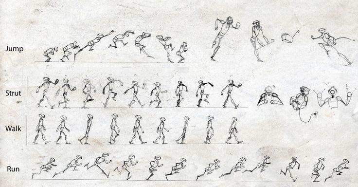 Jump Strut Walk Run Animation Cycles Pinterest Photos Projects