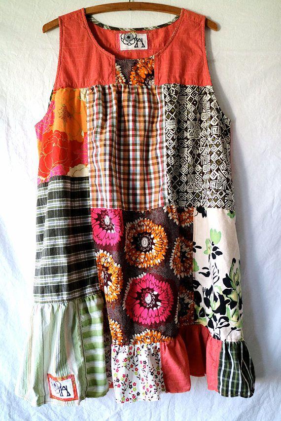 CUSTOM ORDER THEA Upcycled Clothing Boho Chic Dress Tunic