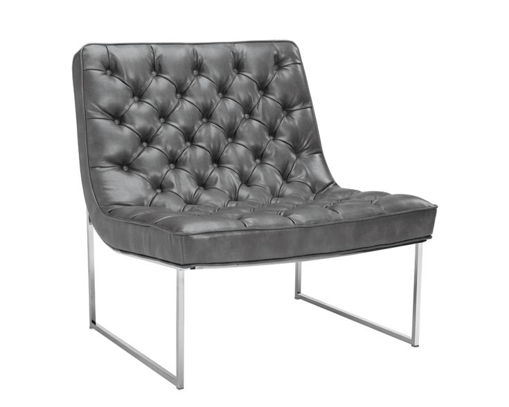 THOR NOBILITY GREY LEATHER CHAIR #LeatherChair