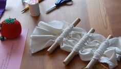 Shibori Folding Techniques | Stitching and gathering around dowels