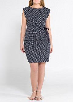VIOLETA - PRENDAS - Vestidos - Vestido estampado geométrico