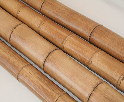 Bambusstange Moso natur 200cm Durch. 8 bis 9cm, gelbbraun hitzebehandelt - Bambus Rohr Bambus Latten farbige Bambusrohre Bamboo Bambus Halbschale Bambusstangen --> großes Sortiment an Bambusrohre und Rohre aus Bambus Bambus-Rohre
