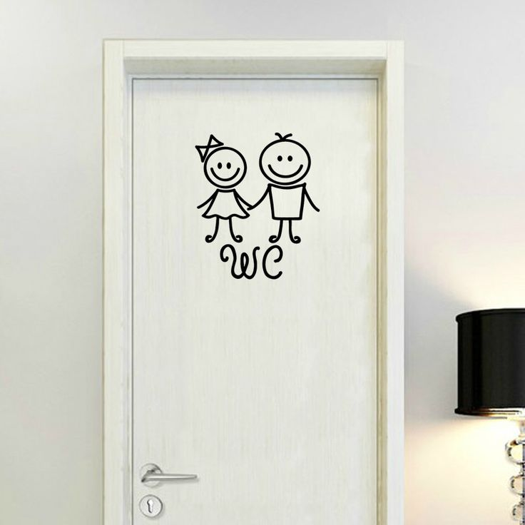 Aliexpress.com : Buy Humanoid Doll WC Sticker Toilet Wall Decals Art Vinyl Wall Sticker Cartoon Mural on the Wall Wallpaper Wall Paper Home Decor from Reliable decorative printed paper suppliers on Kililaya