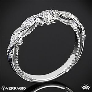 Verragio Beaded Twist Diamond Wedding Ring #whiteflash #verragio