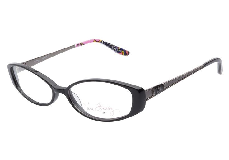 Vera Bradley VB3040 SYM Symphony in Hue eyeglasses are classically chic. This stylish frame comes in a glossy black acetate finish with striking oval shaped lenses. The gunmetal metal temples are embe from @CoastalDotCom