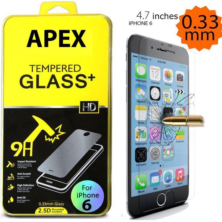 """Apple 4.7"""" iPhone 6 Premium Slim HD Tempered Film Glass Screen Protector  #iPhone #iPhoneProtector #iPhoneScreen #screenprotector"""