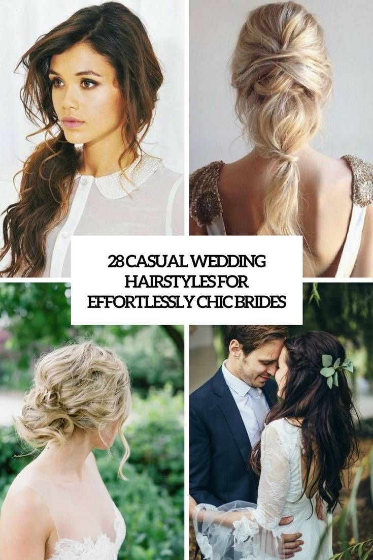 Top Hairstyle For Casual Wedding Wedding Hairstyles For Long Hair Long Hair Styles Casual Wedding Hair