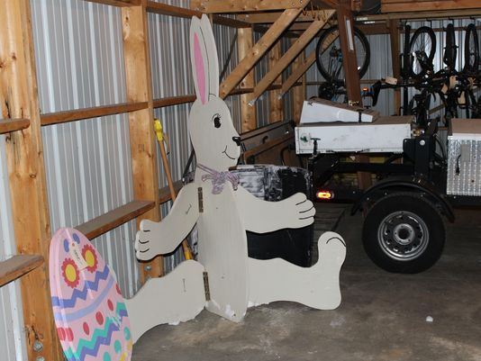 Police impound 6-foot-tall Easter bunny found in a yard