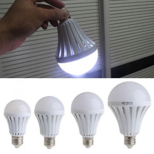 Led E27 5w 7w 9w 12w Emergency Light Bulb Rechargeable Intelligent Lamp Travel Smart 220v China Pp+pc As Picture
