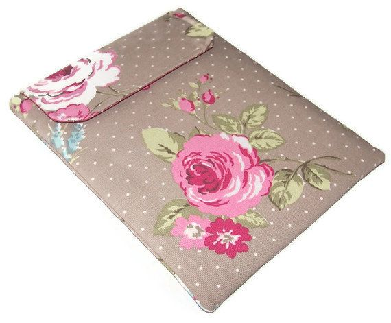 Ipad Cover ENGLISH ROSE by WhimsyWooDesigns on Etsy, £20.00