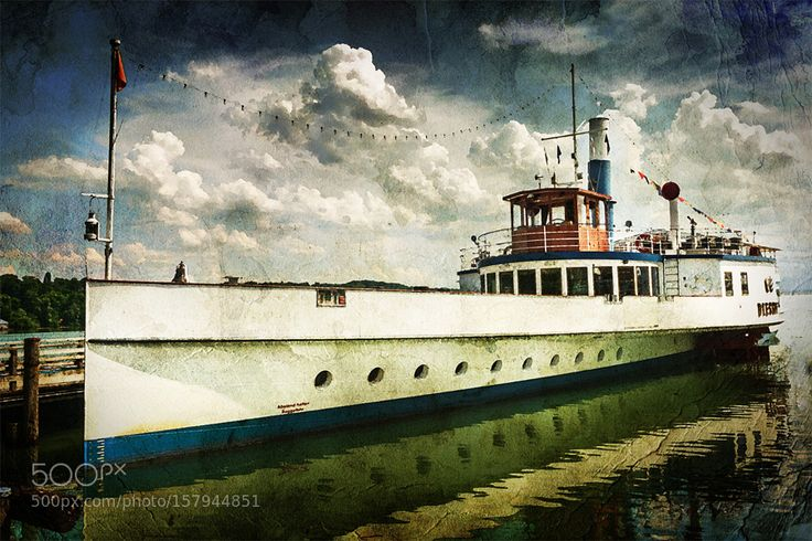 The Paddle steamer Diessen on Lake Ammer by AxelHoffmann. @go4fotos