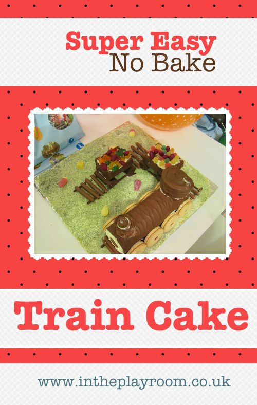Super Easy No Bake Train Cake. I made this for my little boys and they loved it.