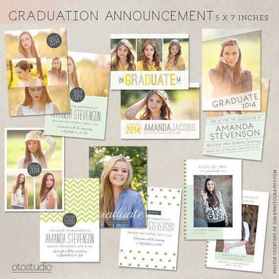 25+ ide terbaik tentang Graduation announcement template di Pinterest - graduation invitation template