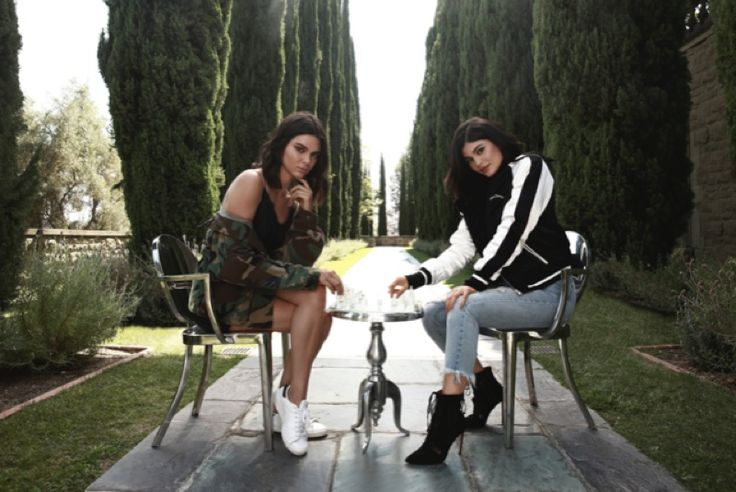 Kendall and Kylie Jenner pose for PacSun collaboration
