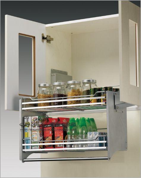 Aliexpress.com: Compre Venda quente diaogui lalan elevador de cozinha máquina de levantamento da cesta cesta de armazenamento do armário de armazenamento de confiança transportadora cesta fornecedores em Sophie Danny.