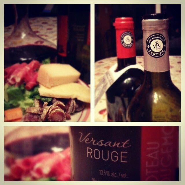 Dégusté ce soir: un Versant Rouge 2013 de Coteau Rougemont, cépages Frontenac Noir et Marquette. Excellent! #vinsduquebec. #quebecgourmand