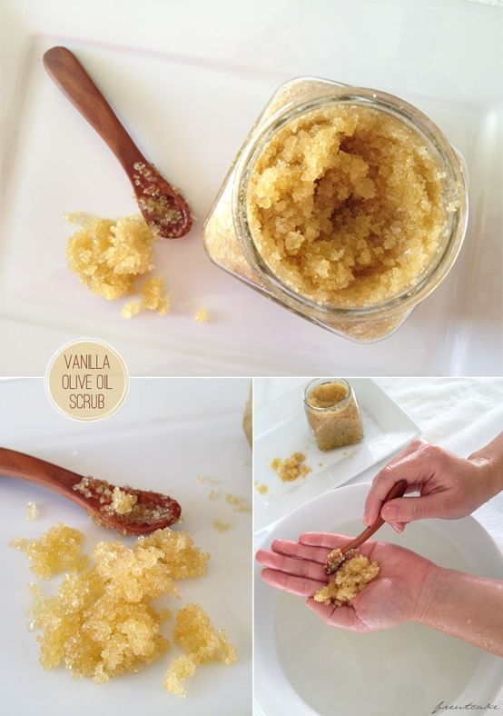 Exfoliate, exfoliate, exfoliate! Homemade sugar scrub with vanilla and olive oil
