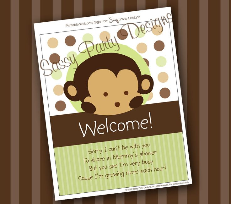 monkey baby shower decorations monkey themed baby shower monkey baby