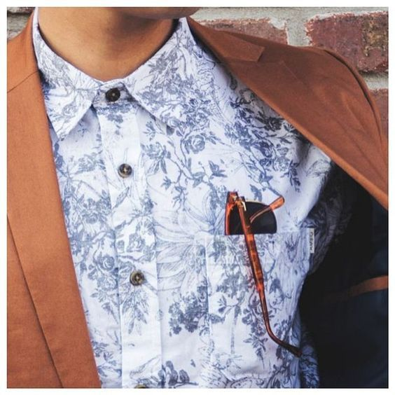 Light casual shirt patterend with jacket — Men's Fashion Blog - #TheUnstitchd