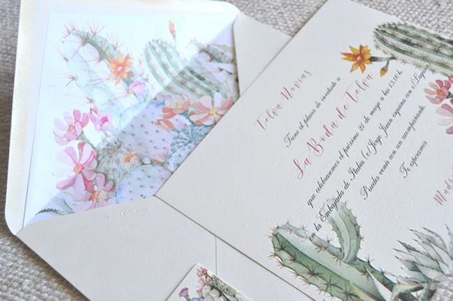 37 tipos de invitaciones de boda. ¡Toma nota e invita con estilo! Image: 29