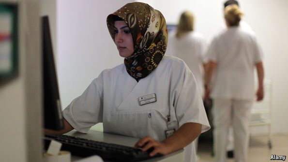Defining discrimination: Employers may sometimes ban staff from wearing headscarves | The Economist