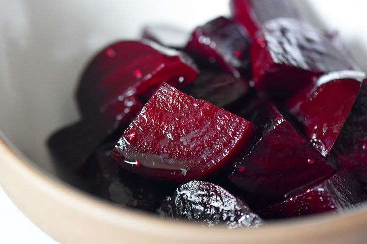 Whenever beets show up at the market, I always prepare them using Alice Water's recipe for lightly pickled beets from her cookbook, Chez Panisse Vegetables.