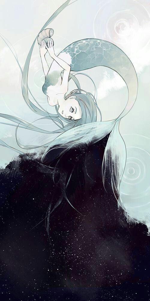 Ariel é filha de Tritão com Íris e é a primeira sereia com corpo metade peixe e metade humana!!!!!