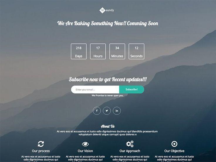 Maundy - Plantilla gratuita HTML5 y CSS3