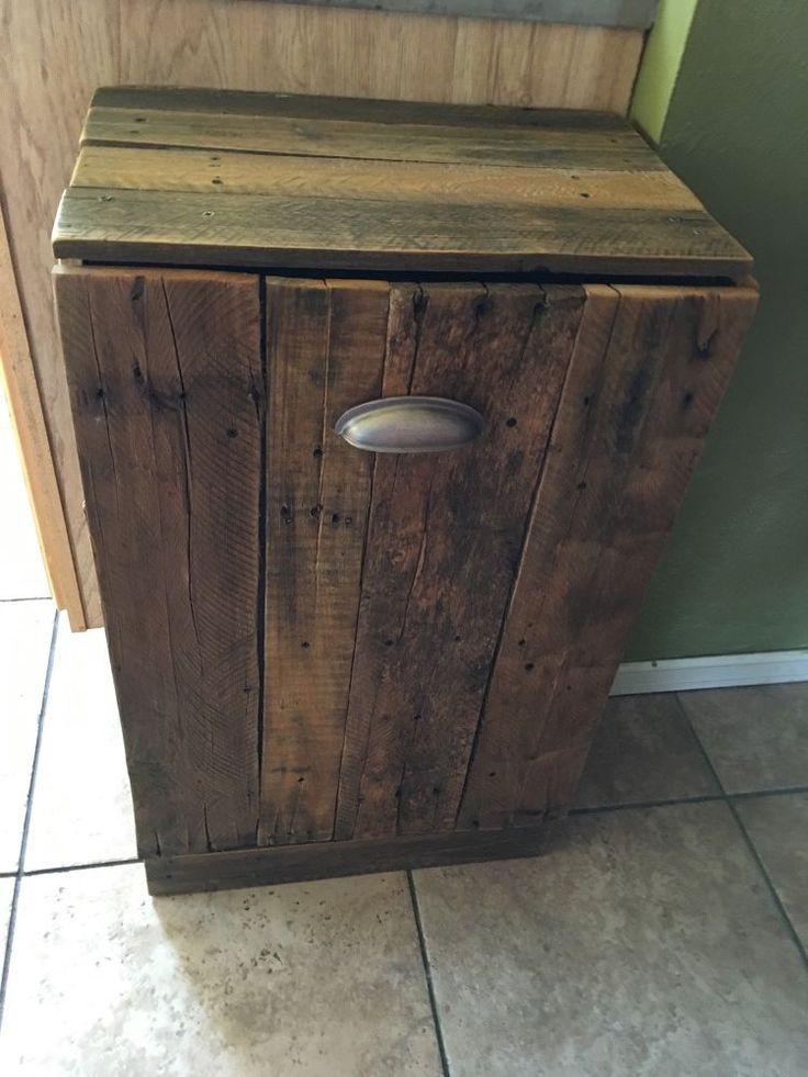 Best 25+ Wooden trash can holder ideas on Pinterest   Wood ...