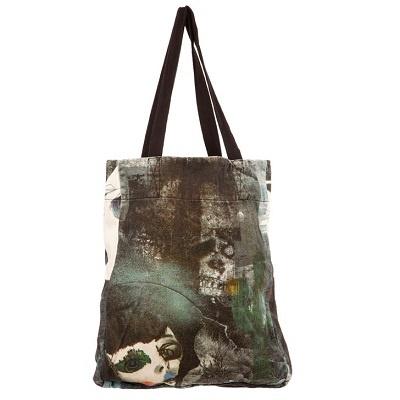 JV Dark Tote Bag from Something Else - Tote bag designed by Julie Verhoeven for Something Else 'Outlaw' Spring 2012 range.100% Cotton / Designed in Australia $94.95