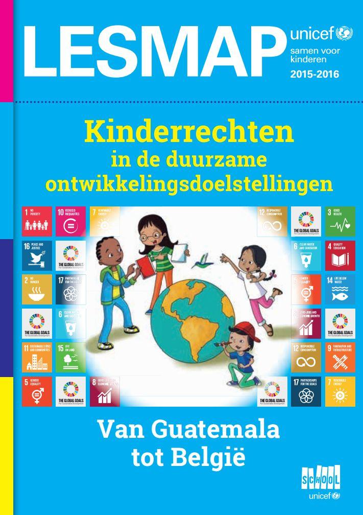 Dit jaar ontwikkelde Unicef een educatief aanbod voor een les over kinderrechten binnen de SDG's (Sustainable Development Goals) of duurzame ontwikkelingsdoelen. De focus ligt op armoede, gezondheid en klimaatverandering. Twee themalanden worden van dichterbij bekeken: België en Guatemala.