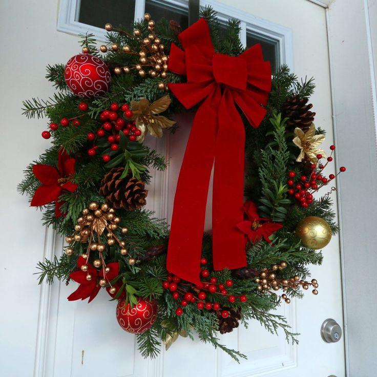 35 Christmas Door Decorating Ideas: 25+ Unique Homemade Wreaths Ideas On Pinterest