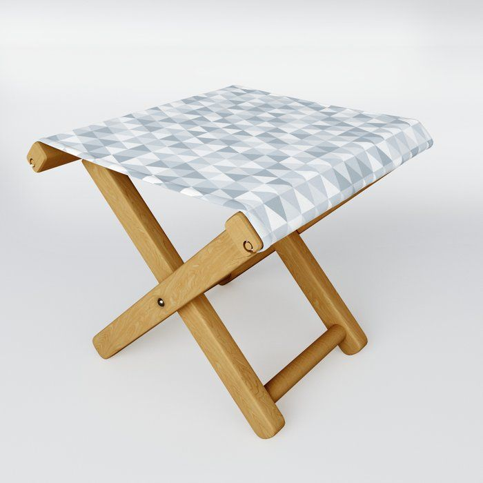 shades of ice gray triangles pattern Folding Stool by ...
