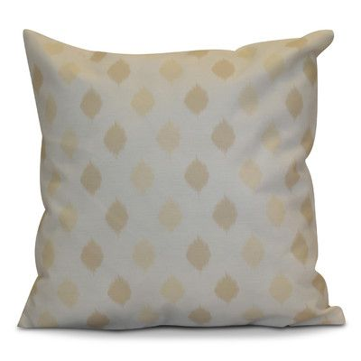 "The Holiday Aisle Hanukkah 2016 Decorative Holiday Geometric Throw Pillow Size: 18"" H x 18"" W x 2"" D, Color: Cream / Off White"