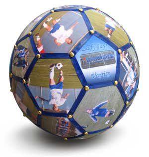 Photo Soccer Ball - Such a cute Idea! Cost $90