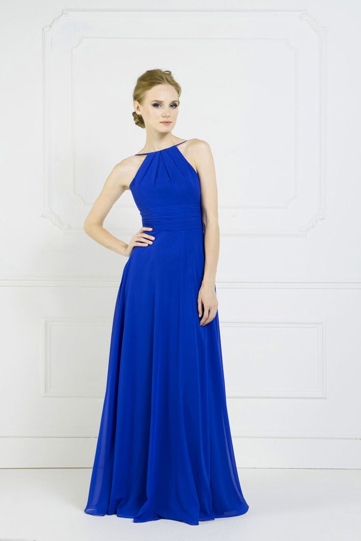 This halter-neck gown from Kelsey Rose is perfect if you are looking for full length bridesmaid gowns with a more relaxing style.