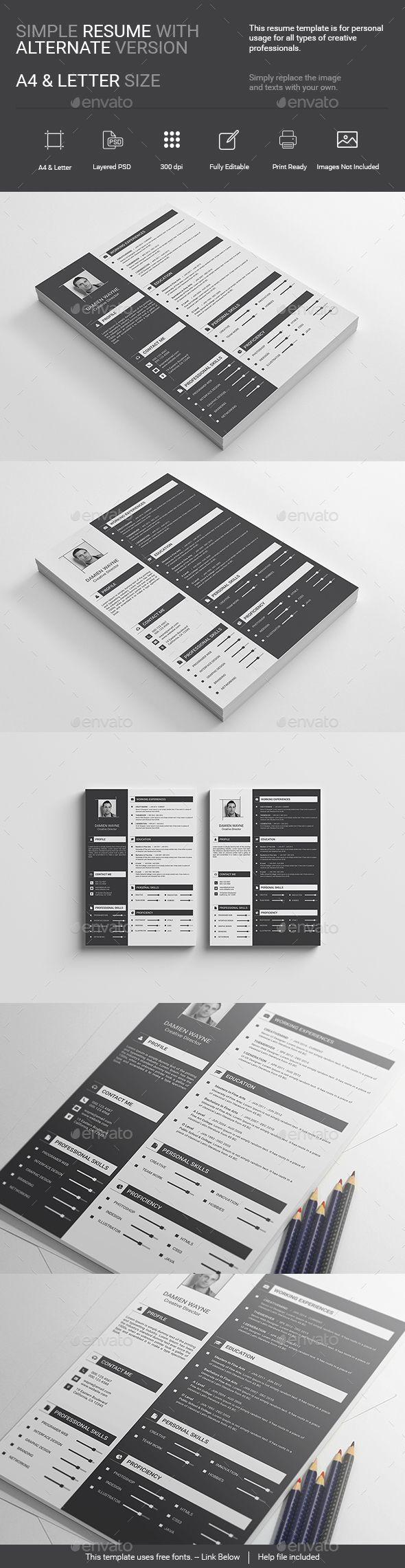 121 best resumes cv images on pinterest resume cv resume