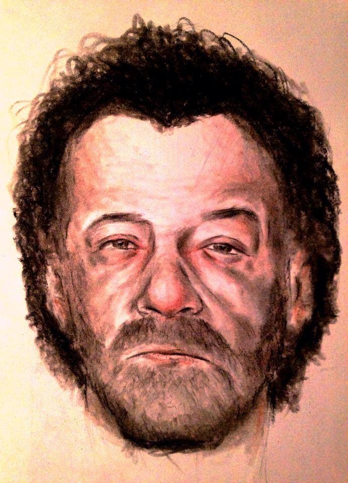 Portrait of man Mixed media..