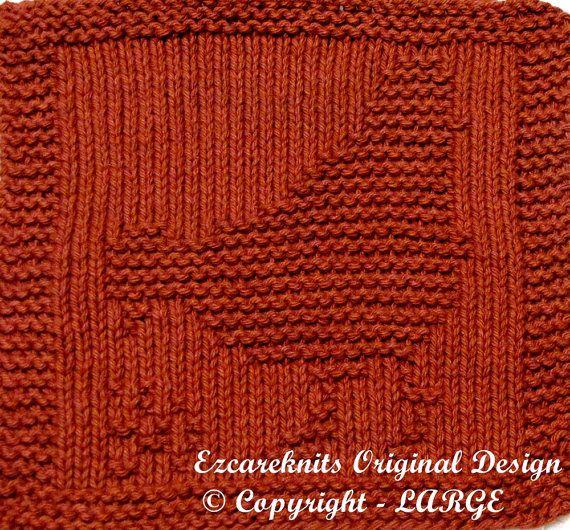 Large Knitting Cloth Pattern - HEN - PDF Large, Patterns and On