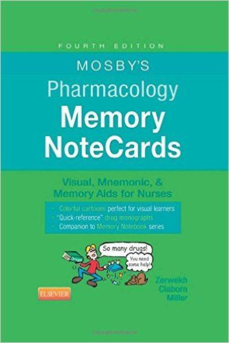 The 15 best nursing pharmacology images on pinterest book reviews mosbys pharmacology memory notecards visual mnemonic and memory aids for nurses 4 fandeluxe Images