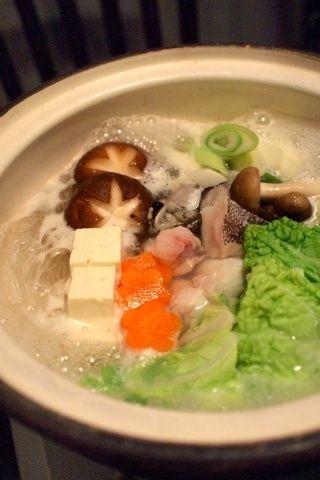 あんこう鍋&桜えびと野菜のかき揚げ