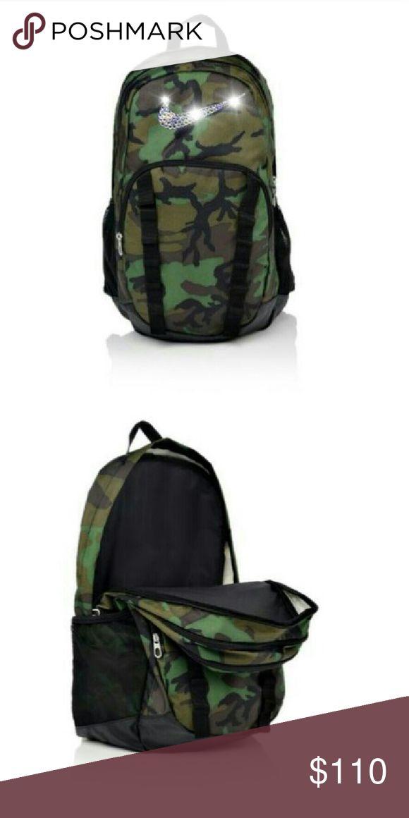 Swarovski Nike Brasilia backpack 7 xl Brand new custom camo Nike backpack Brasilia 7 xl Nike Bags Backpacks