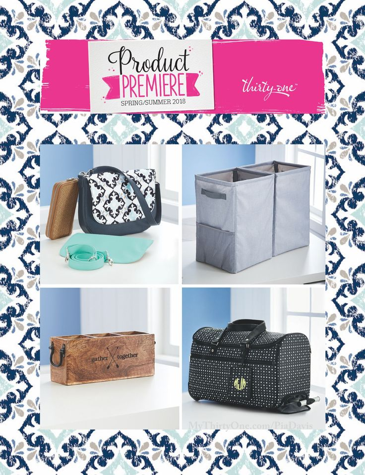 #31 2018 Thirty-One Spring Product Premier Prints... Bloomin' Bouquet, Diamond Straw, Dragonfly Daze, Light Grey Crosshatch, Dandelion Dream, Ditty Dot, Fab Flourish, Grey Brush Strokes, Lotta Colada, Navy Starfish Splash, Calypso Coral Pebble, Dash of Plaid Pebble, Dotty Hexagon, Midnight navy Pebble, Patio Pop, Sparkling Squares and Woven Stripe. Check them out online at MyThirtyOne.