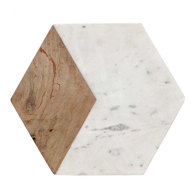 Planche à découper marbre et bois Hübsch