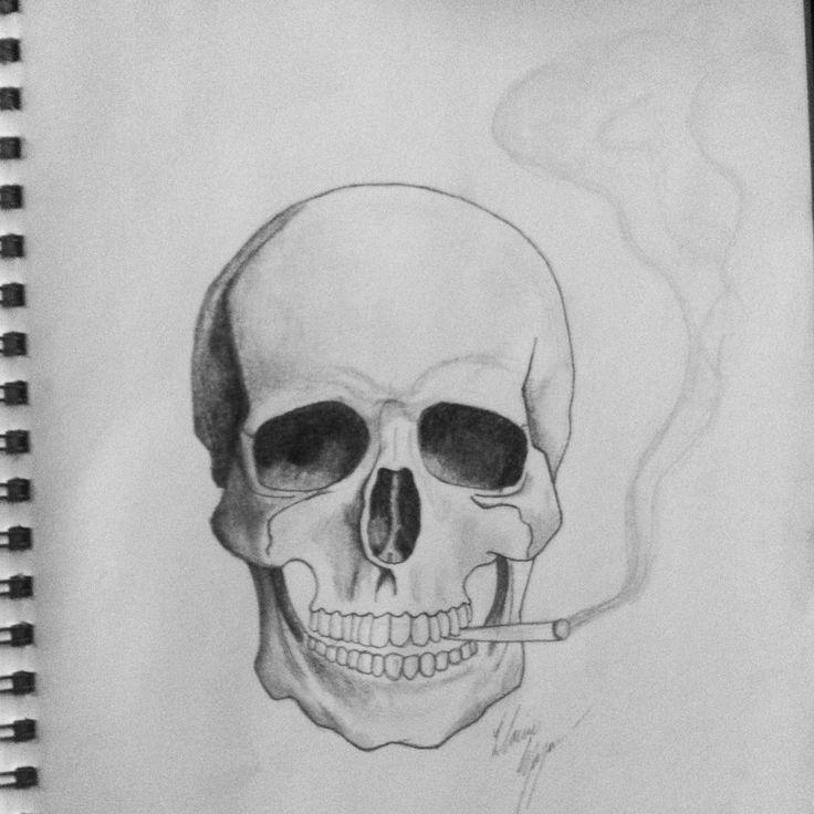 Skulls And Smoke Drawings The smoking skull by lanielove ...