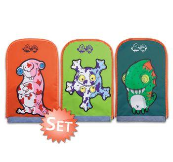 Potworki do tornistra NUN 211 występują w różnych kolorach. Są przyjazne dla dzieci. Uwaga- mogą powodować uśmiech na buzi :-)