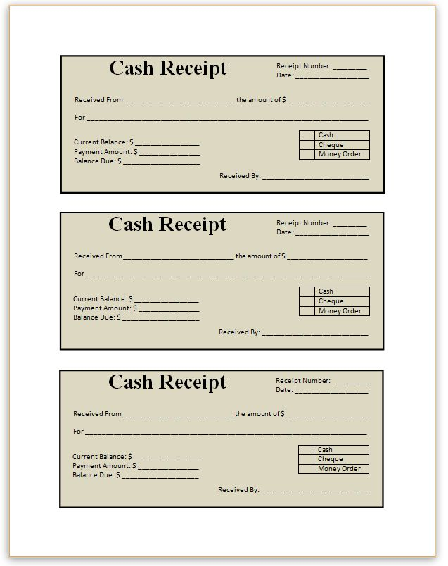 11 best Receipts images on Pinterest Contact paper, Craft - cash receipt voucher word format