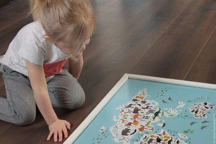 """Подвески ручной работы. Доска для магнитов """"Карта мира для детей"""". Семейная мастерская """"Три Слона"""". Ярмарка Мастеров. Детская комната"""